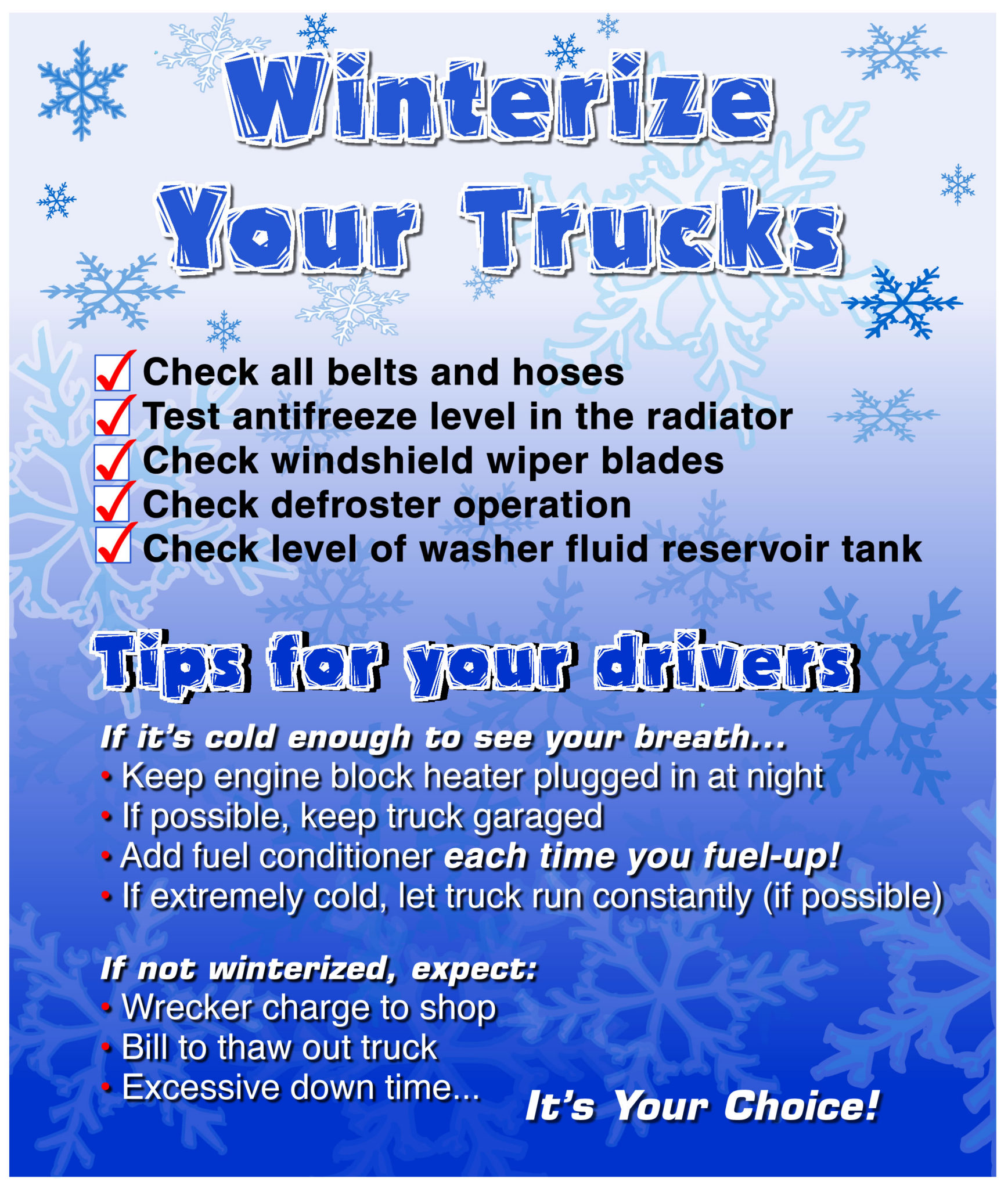 Winterize Your Truck